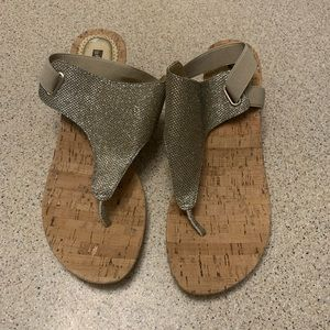Good Metallic Wedge Sandals - new without tags